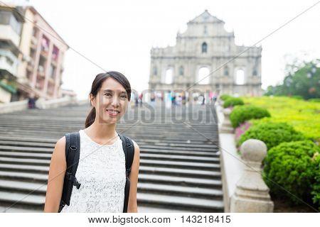 Asian young woman go macau