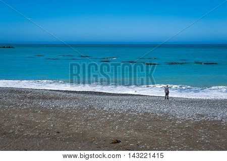 Coastline of Kaikoura, South Island of New Zealand
