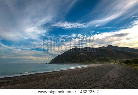 Evening At Peketa Beach, Kaikoura, South Island Of New Zealand