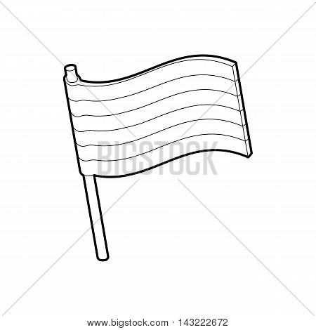 LGBT pride flag icon in outline style isolated on white background