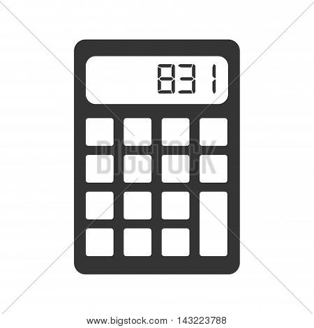 calculator money maths finance economy digital keyboard number vector illustration