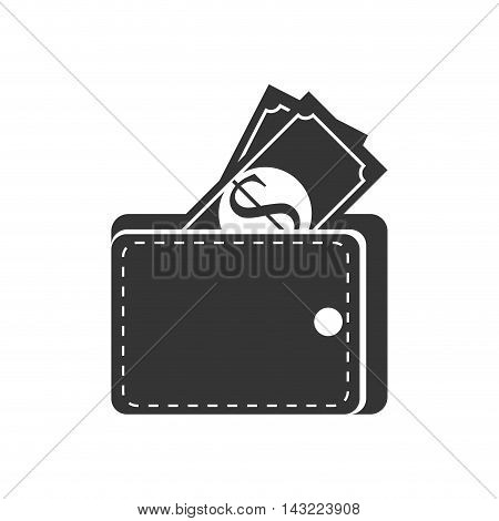 bill money wallet cash economy financial fortune rich bank vector illustration