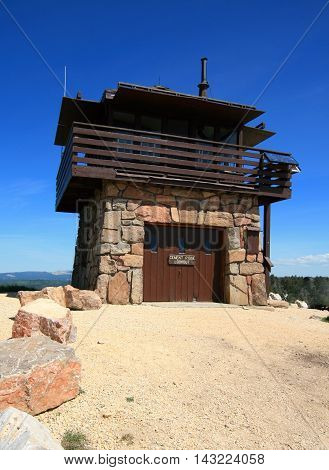 Cement Ridge Fire Lookout Tower in the Black Hills of South Dakota USofA