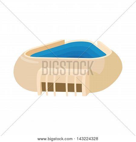 Triangular stadium icon in cartoon style isolated on white background. Sport symbol