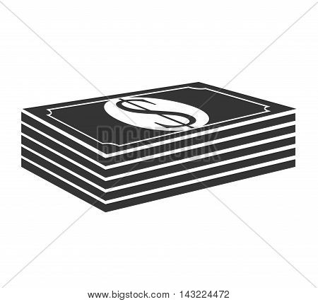bill money cash economy financial fortune rich  stack bank vector illustration