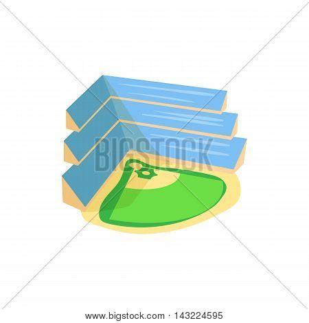 Baseball stadium icon in cartoon style isolated on white background. Sport symbol
