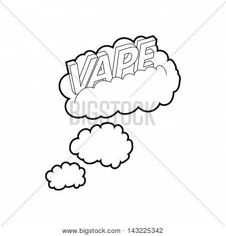 Vape clouds icon in outline style isolated on white background
