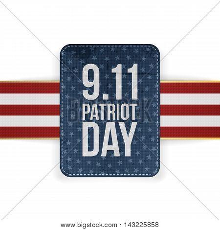 Patriot Day festive paper Banner. Vector Illustration