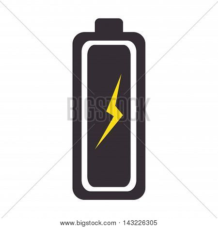 battery complete charge energy power level bar vector illustration