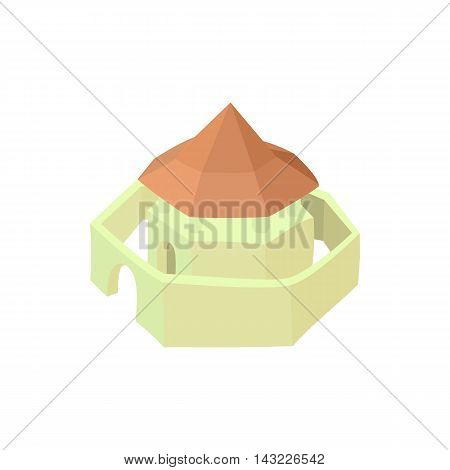Buddhist temple icon in cartoon style isolated on white background. Religion symbol