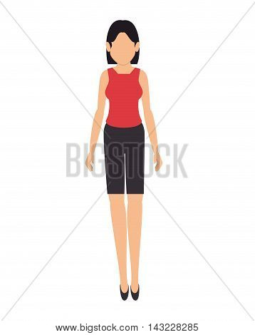 women business suit face leader executive office work professional  vector illustration