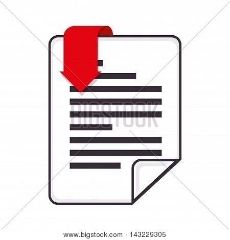 format type file document  pdf image red label  vector illustration