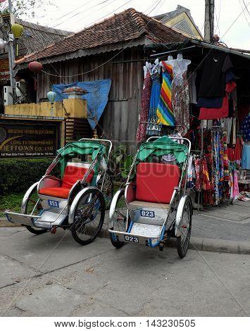 Pedicab At Hoi An Old Town