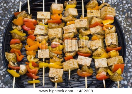 Barbecue Tofu With Clipping Path
