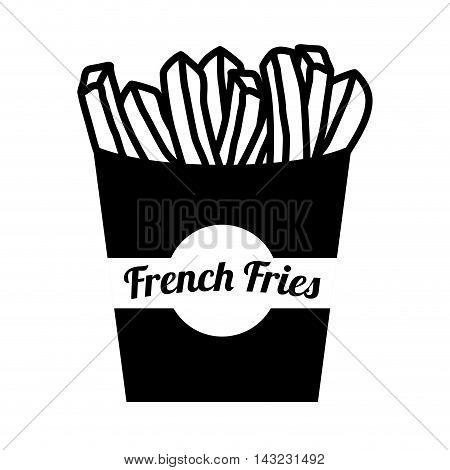 french fries potato delicious takeaway fast food vector illustration