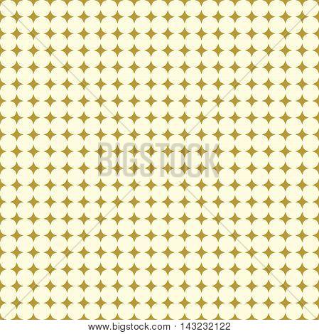 Seamless geometric vector pattern. Modern ornament with golden stars