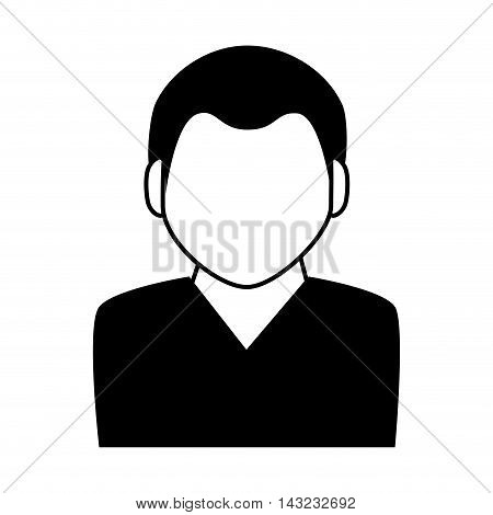 avatar male profile icon person social silhouette website network member vector illustration