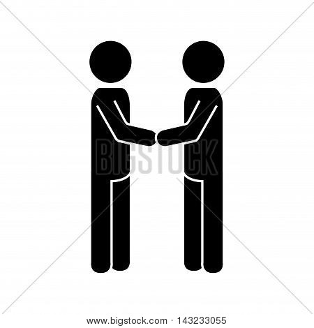 handshake deal man hands negotiation business silhouette vector illustration
