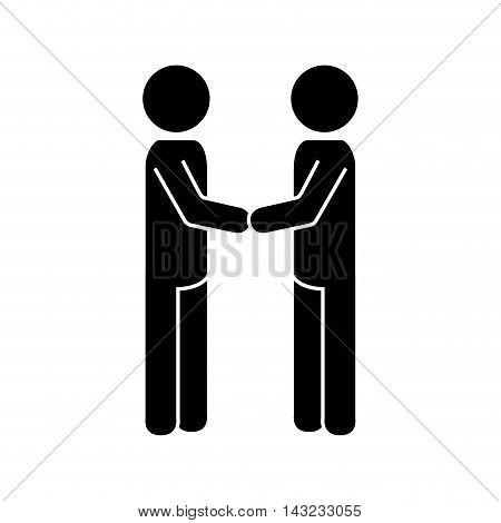 handshake deal man hands negotiation business silhouette vector illustration