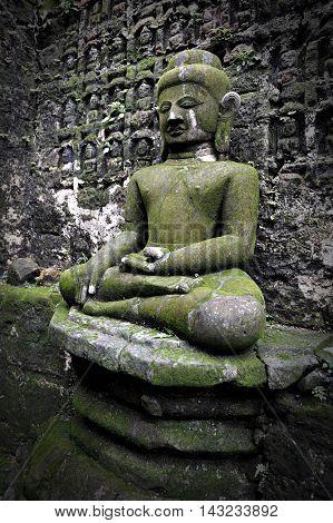 Buddha Image At Koe-thaung Temple In Mrauk-u, Myanmar