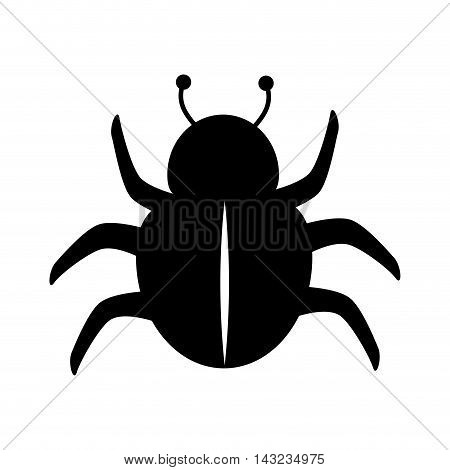 bug scarab beetle insect animal silhouette vector illustration