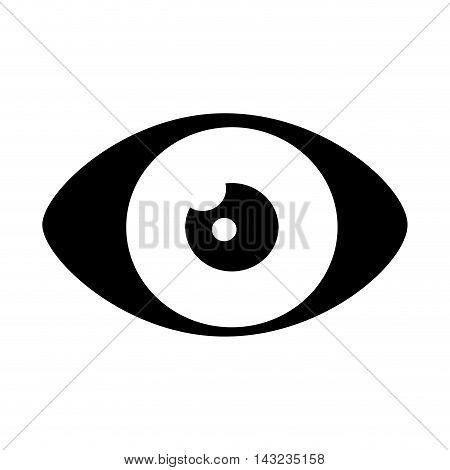 eye look vision organ human see view watch vector illustration