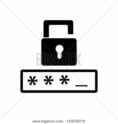 password login data unlock safety user protection security code vector illustration