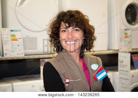 Shop Assistant In Home Electric Appliance Supermarket Store