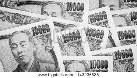 Stack of Japanese yen currency bank note
