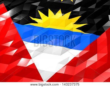 Flag Of Antigua And Barbuda 3D Wallpaper Illustration