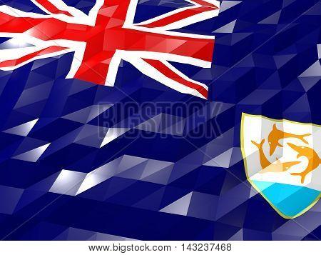 Flag Of Anguilla 3D Wallpaper Illustration