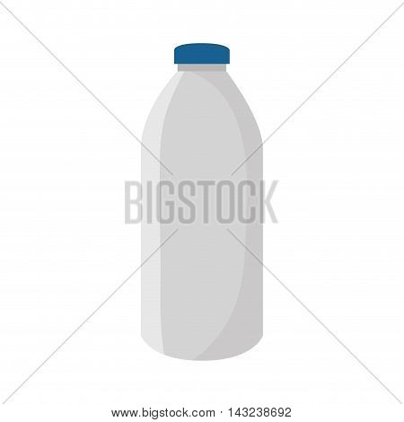 bottle beverage drink liquid milk plastic vector illustration