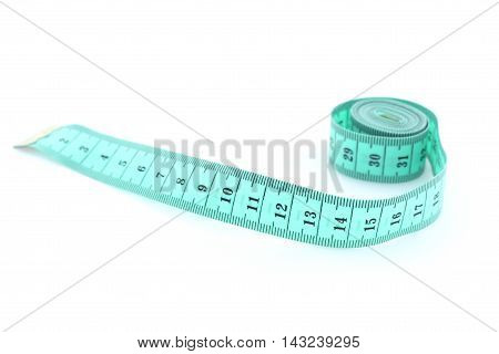 Measure tape on a white background isolated