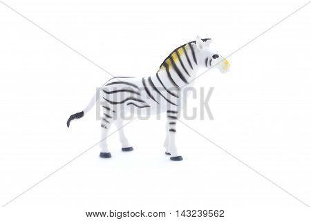 Toy Zebra On A White Background