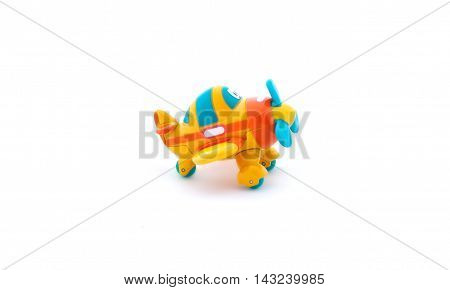 Toy Airplane On White Background