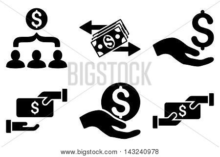 Payment vector icons. Pictogram style is black flat icons with rounded angles on a white background.