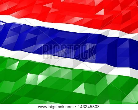 Flag Of Gambia 3D Wallpaper Illustration