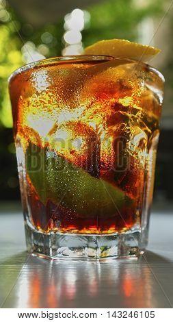 Cuba-libre, Cubalibre drink, rum with cola rum&cola, selective focus