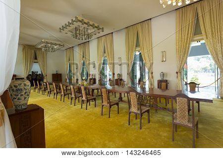 Ho Chi Minh City, Vietnam- November 2015: Interior Decoration Room In Independence Palace, Ho Chi Mi