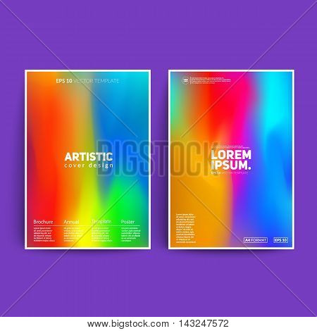Colorful artistic posters. Cool fluid colors. Applicable for covers, posters, banners,brochure etc. Eps10 vector template.