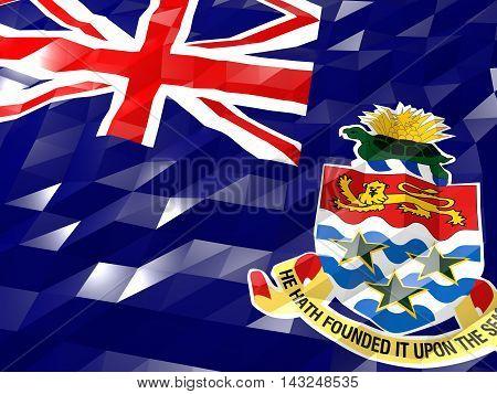 Flag Of Cayman Islands 3D Wallpaper Illustration