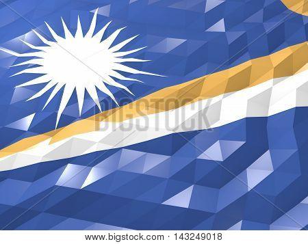 Flag Of Marshall Islands 3D Wallpaper Illustration