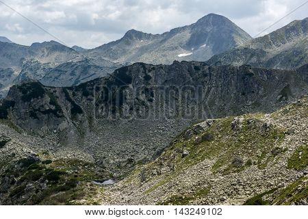 Panorama from Banderitsa pass to Banderishki Chukar peak,  Pirin Mountain, Bulgaria