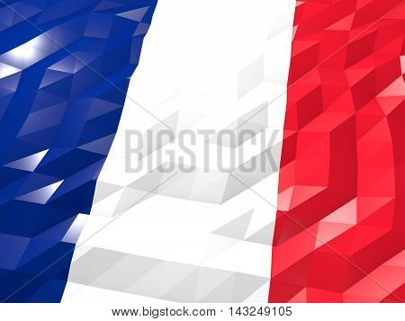 Flag Of Martinique 3D Wallpaper Illustration