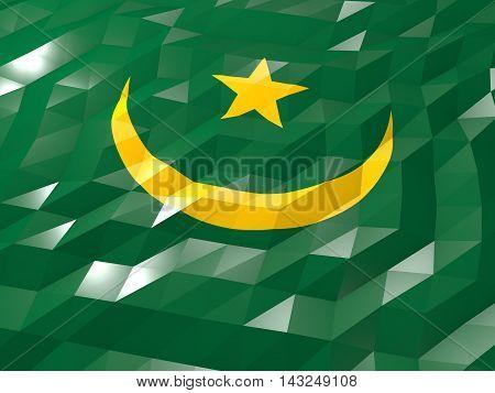 Flag Of Mauritania 3D Wallpaper Illustration