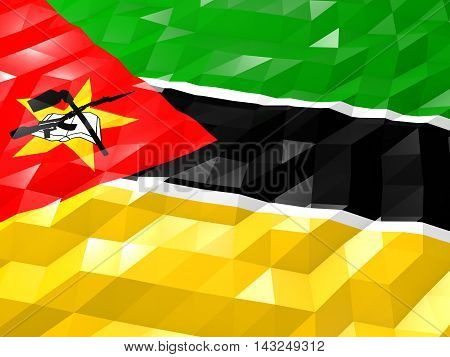 Flag Of Mozambique 3D Wallpaper Illustration