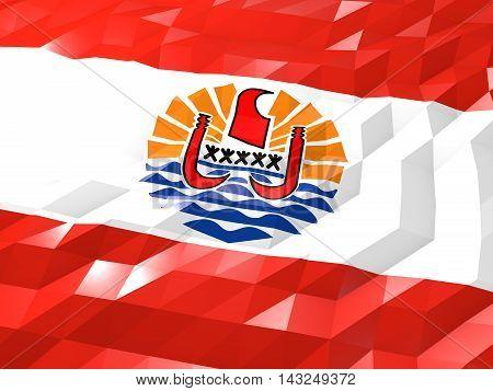 Flag Of French Polynesia 3D Wallpaper Illustration