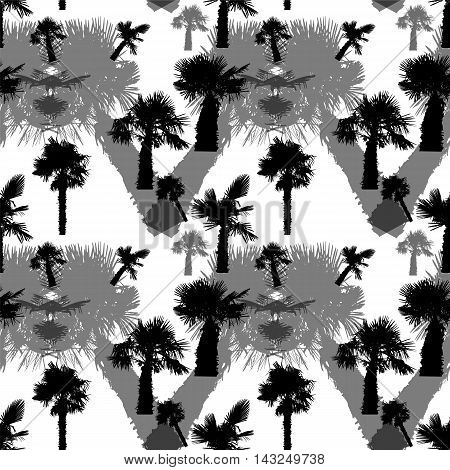 Palm Tree Seamless Pattern Vector Illustration. EPS10