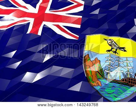 Flag Of Saint Helena, Ascension And Tristan Da Cunha 3D Wallpaper Illustration