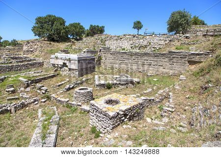 The ruins of the ancient city of Troy in Turkey.